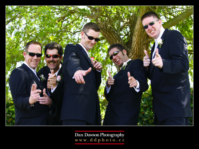 Dan and his groomsmen